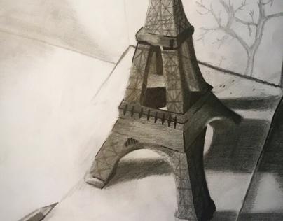 Eiffel Tower 3D drawing