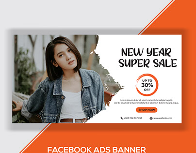 New Year Super Sale Facebook Ads Banner-3