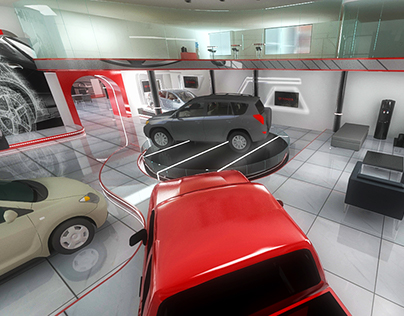 3D | Showroom Toyota Movicenter