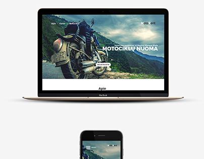 Motorent web page design