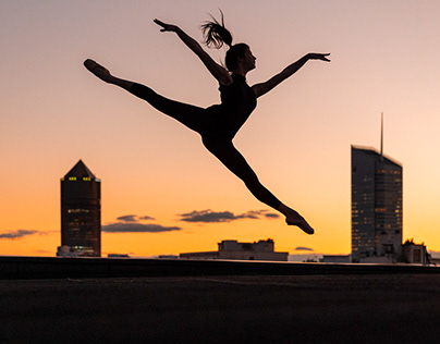 Sunset rooftop dance session