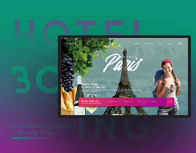 Hotel Booking Website | Landing Page