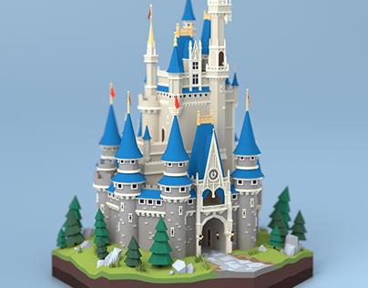 Disney Castle Model