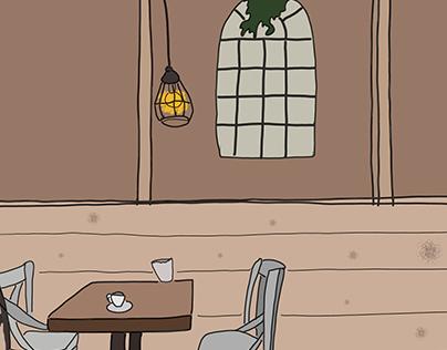 ILUSTRACIONES CAFETERÍAS/BARES BONITOS (personal)