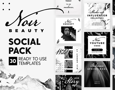 Noir Beauty - 4x4 Social Pack