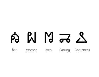 Wayfinding Icons for Restaurant