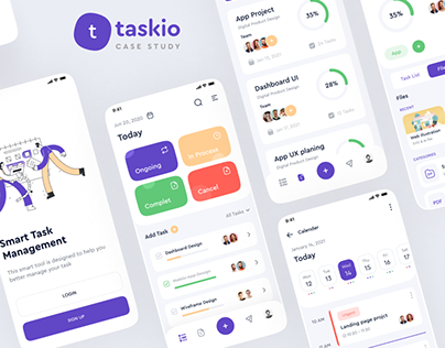 Taskio - Project management app ui ux design