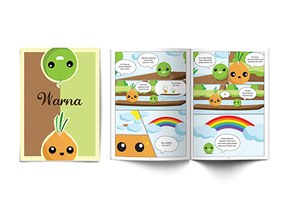 Malay Cartoon Comic Book - Warna