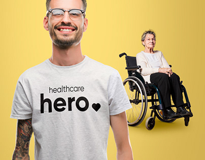 branding Back to care, connecting healthcare heroes.