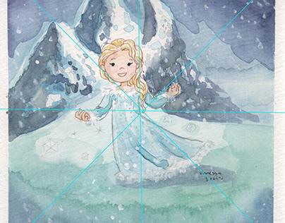 Mini Princesses watercolors