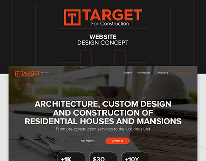 Target for construction - company design concept