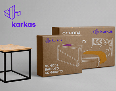 Karkas – metal&wood furniture branding