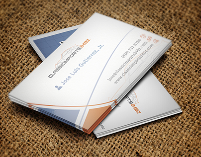automobile parts company business card