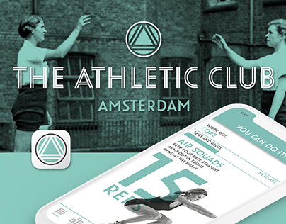 Athletic Club Work-out App Design