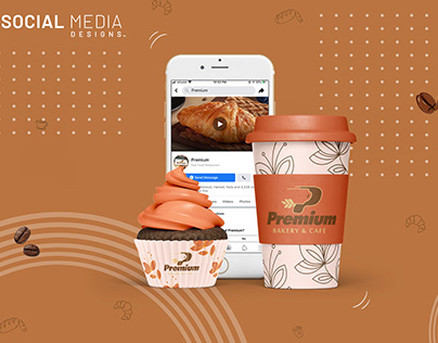 Social Media Designs for Premium Bakery & Cafe ©