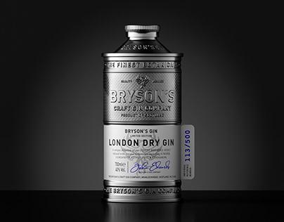 Bryson's Gin Metal Packaging