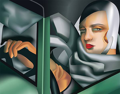 Tamara De Lempicka Tribute | Digital Art