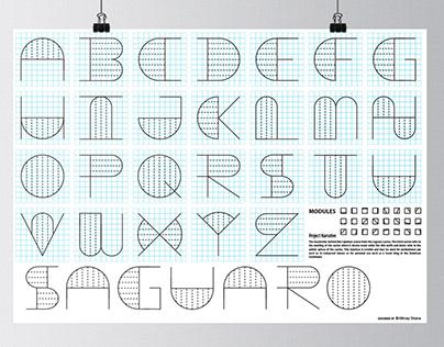 Modular Typeface: Saguaro