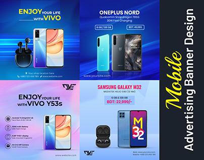Mobile Advertising Social Media Post Banner, Ecommerce