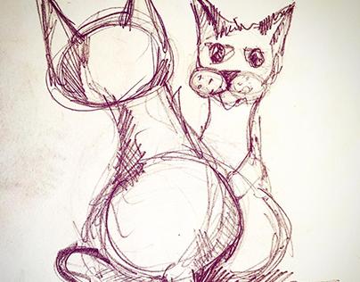 sketch, drawing,