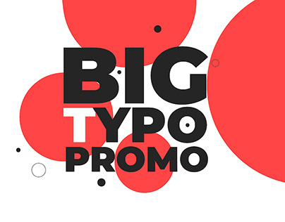 Big Typo Promo (After Effects Template)