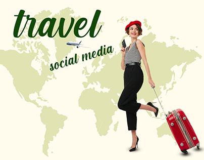 travel social media designs