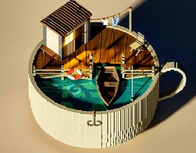 Ocean Cup - Diorama