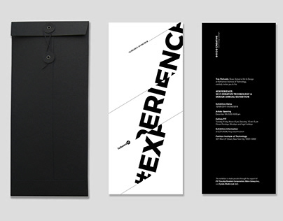 #EXPERIENCE Exhibition Posters and Invites