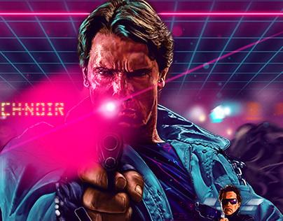 The Terminator, screen print, private commission