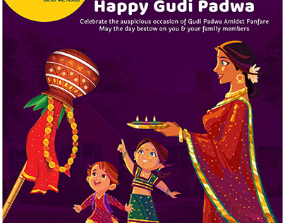 Creative Social Media Post on Gudi Padwa Festival