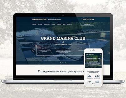 Сайт коттеджного поселка Grand Marina Club