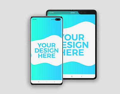 Samsung Galaxy S10+ & Galaxy Fold Mockups
