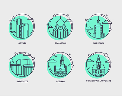 Icons of polish cities