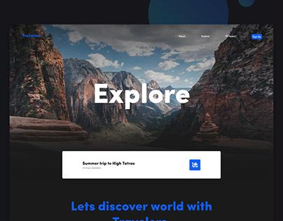 Travelers - Traveling agancy website, UX/UI