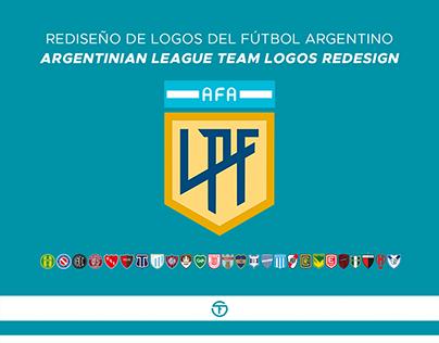 Rediseño de logos del fútbol argentino