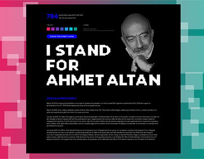 Support Campaign for Ahmet Altan (single page)