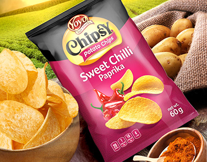YOYO Chipsy, potato chips packaging design