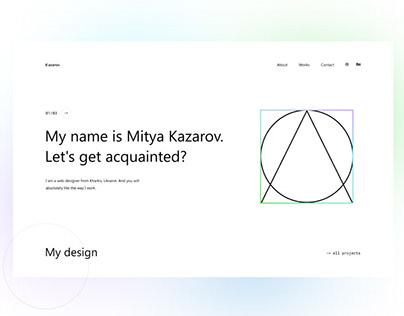 Portfolio Concept   Kazarov