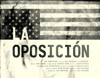 La Oposición Theatrical Film Key Art Design
