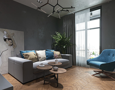 Girl's apartment in Moscow