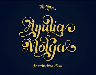 Ayulia Molga - Free Handwritten Font