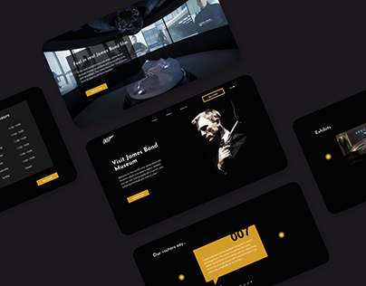 James Bond museum website redesign