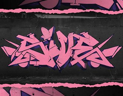 Strictly Alphabets Pink Graffiti Jam - 5ive