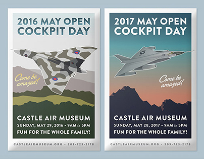 Open Cockpit Day Poster Art, Castle Air Museum