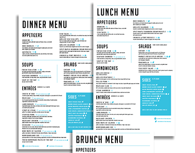 Print: Get Stuffed menu design