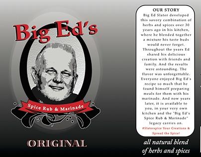Big Ed's Spice Rub & Marinade Labels