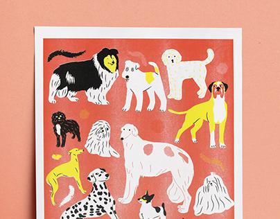 DOGS riso print
