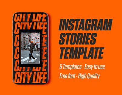 Instagram Stories Template Urban Style Design