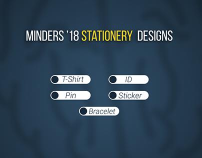 Minders '18 Stationery