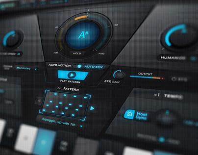 Auto-Tune EFX+ GUI Audio Interface graphic design